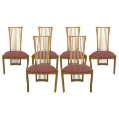 Italian Chairs by Pietro Costantini, Set of Six