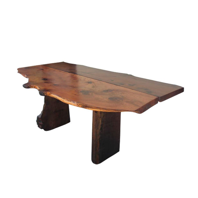 Organic Larch Wood Table At 1stdibs