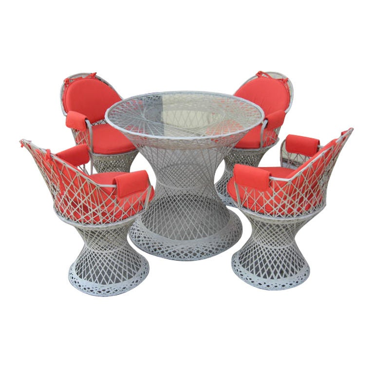 A Fiberglass Outdoor Dining Set At 1stdibs