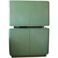 Green Lacquer 1980s Cabinet