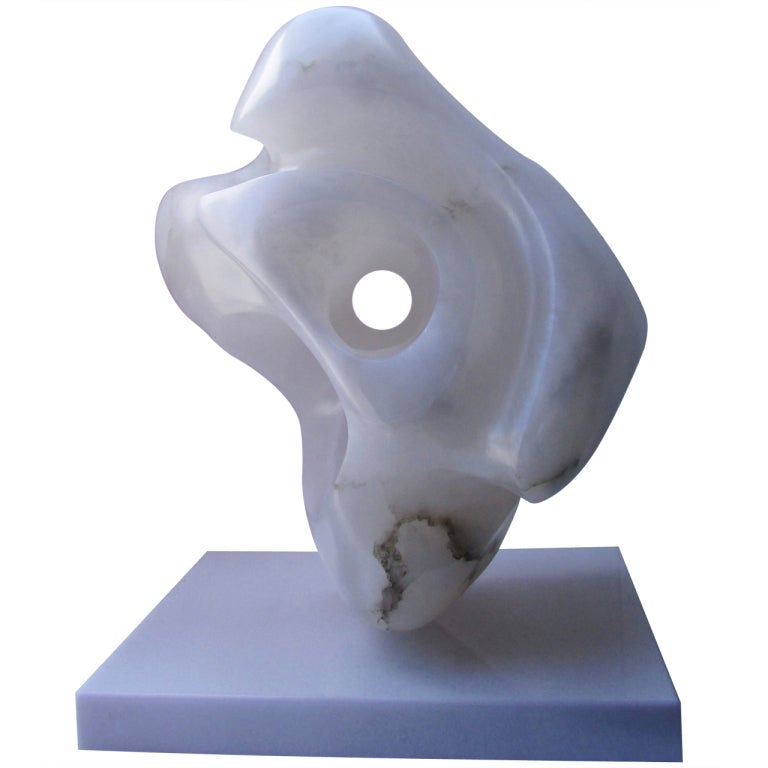 Amorphous Alabaster Sculpture Attributed to Ilona Passino