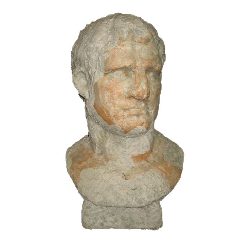 Terra Cotta Bust Of Marcus Agrippa At 1stdibs