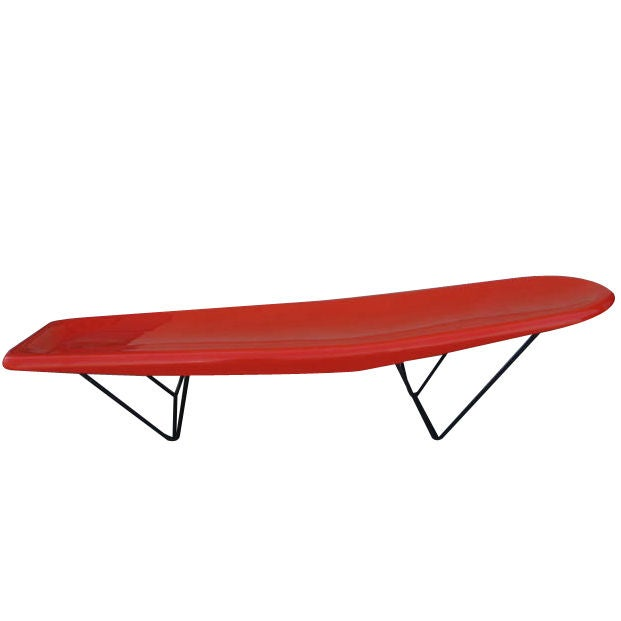 1950s california designed outdoor chaise at 1stdibs for 1950 chaise lounge