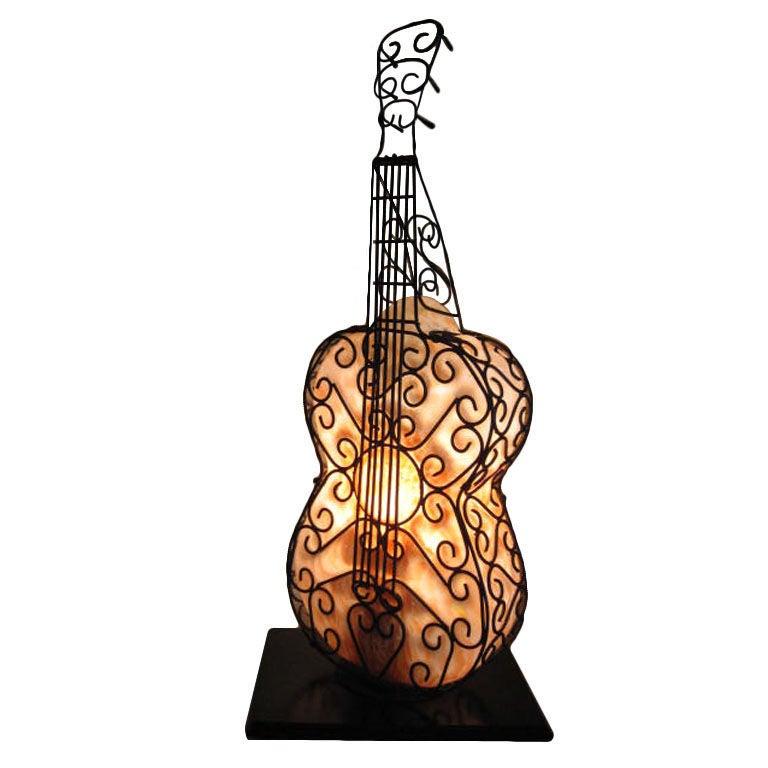 Blown glass guitar lamp at 1stdibs blown glass guitar lamp for sale aloadofball Gallery