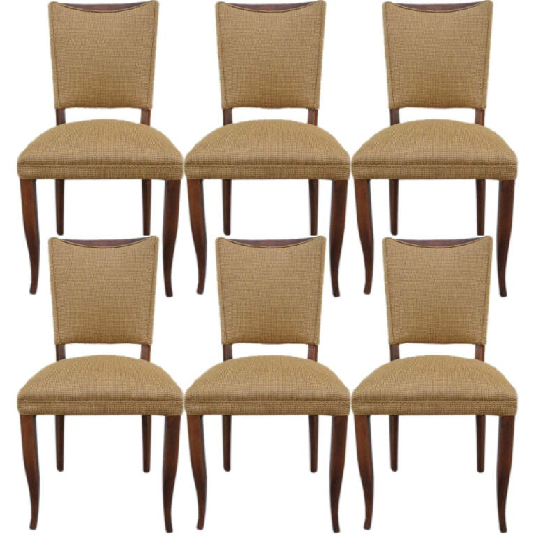 A Set Of 6 French Art Deco Dining Chairs At 1stdibs