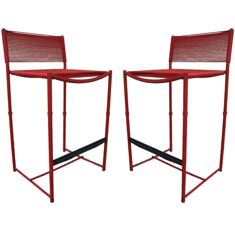 A Pair Of Bar Stools By Giandomenico Belotti For Alias At