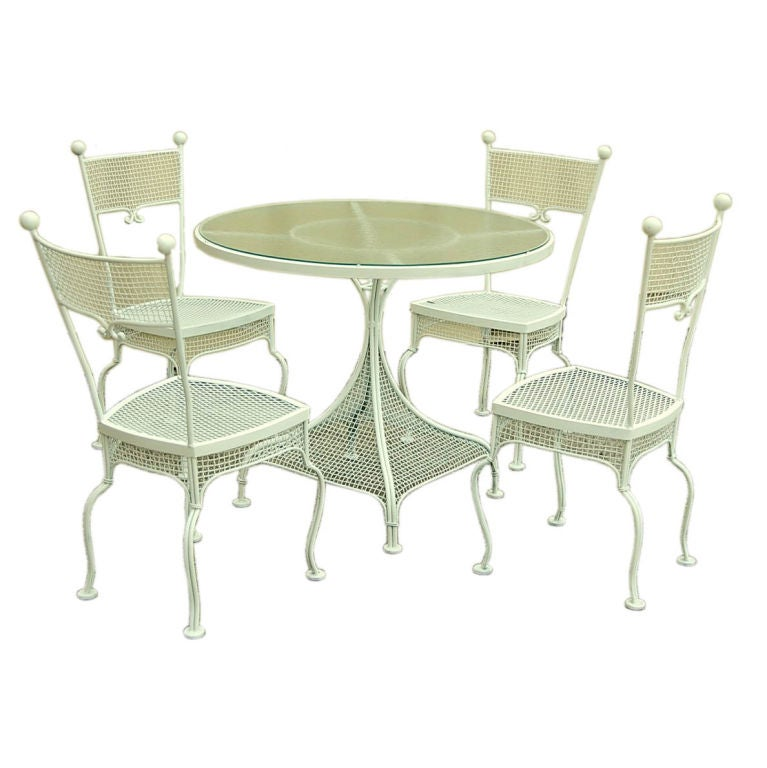 Outdoor Patio Set By Russel Woodard At 1stdibs