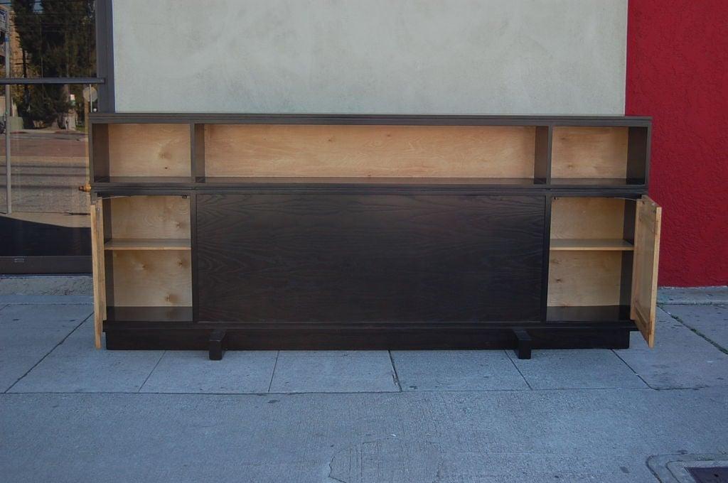 Wood Mid-Century Modern Two-Tone Headboard For Sale