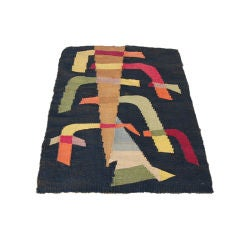 Graphic Modernist Rug or Tapestry