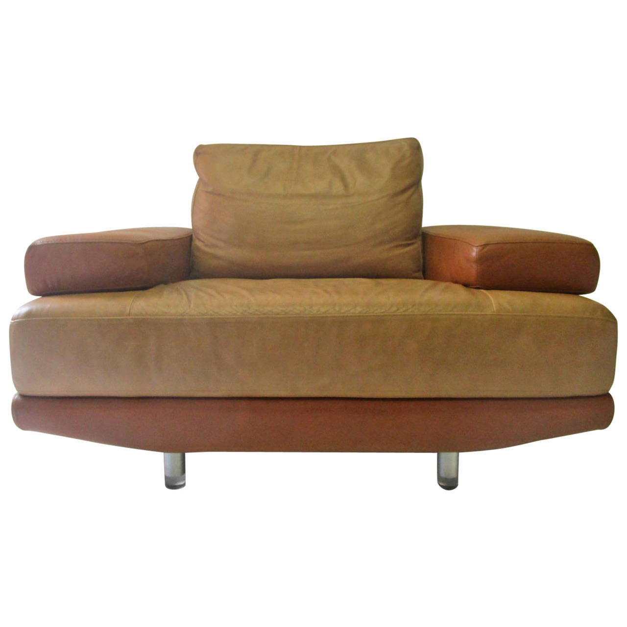outstanding nicoletti leather armchair made in italy