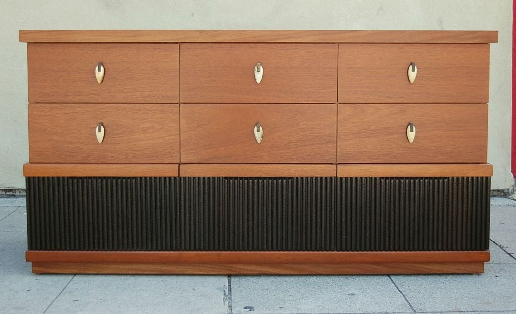 Blond Mahogany Chest Of Drawers By American Of