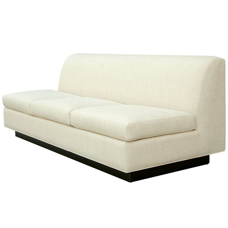 Minimal French Sofa by Pierre Folie for Jacques Charpentier 1