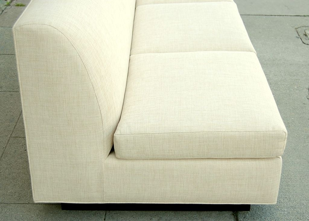 Minimal French Sofa by Pierre Folie for Jacques Charpentier 6