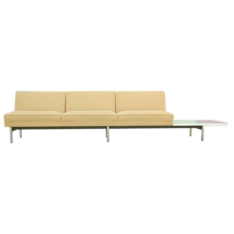 3 Seat Sofa With Attached Side Table By George Nelson And