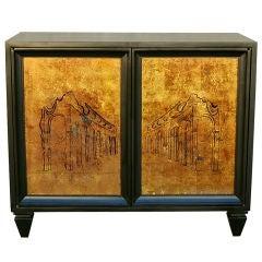 Black Lacquer Little Cabinet by Lane Altavista