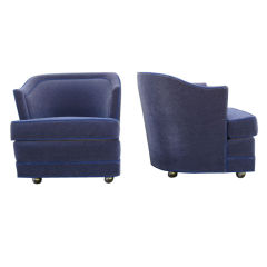 A Set of Two  Barrel Chairs