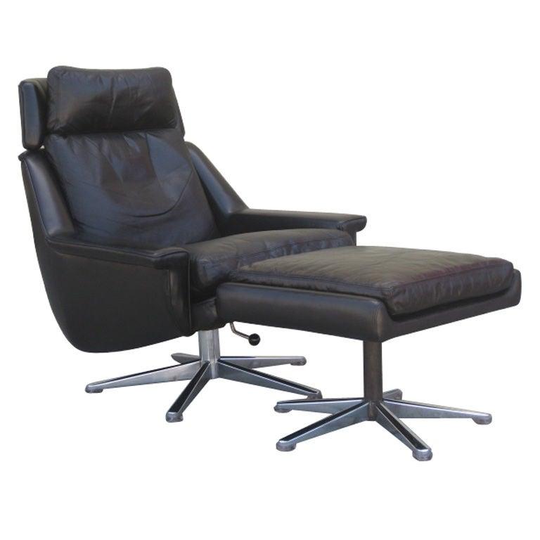 Danish Lounge Chair And Ottoman At 1stdibs