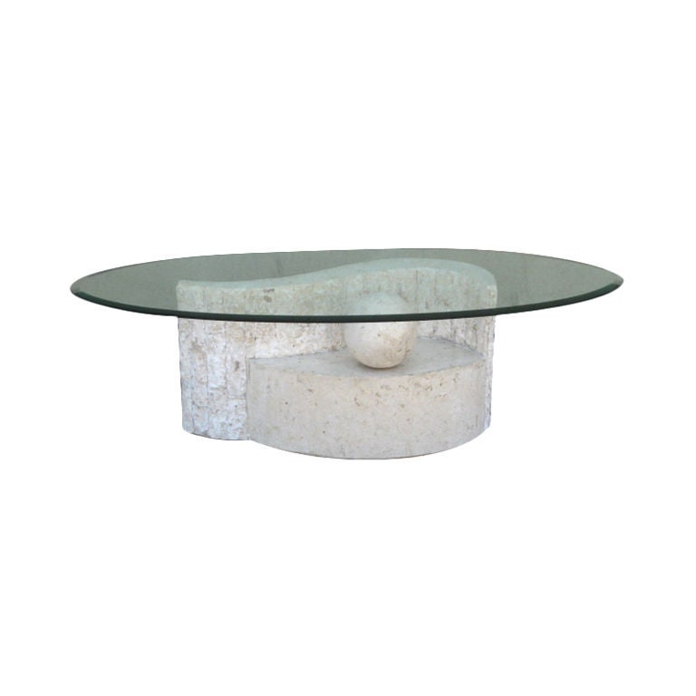 Tessellated Marble Whimsical Coffee Table By Magnussen Furniture At 1stdibs