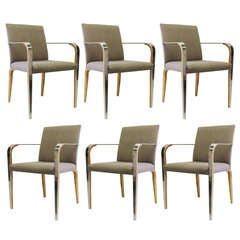 """Aria"" Armchairs by Mark Goetz for Bernhardt Design, Set of Six"