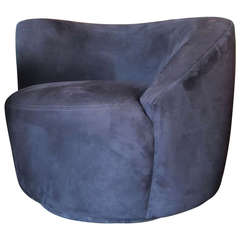 Nautilus Swivel Chair by Vladimir Kagan