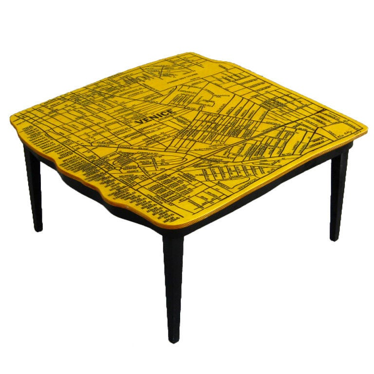 Venice Beach California Coffee Table By Doug Edge At 1stdibs