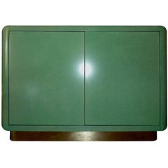 Amazing Set  Jade Green Lacquer Cabinet
