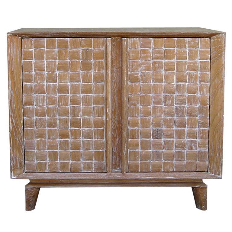 Limed Oak Cabinet By Paul Laszlo For Brown Saltman At 1stdibs