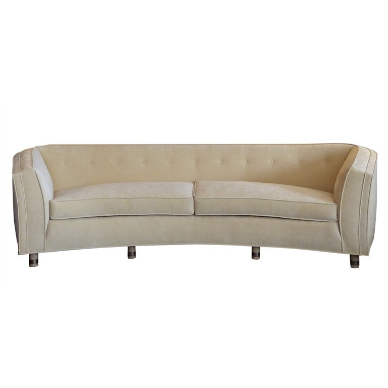 Curved Mid Century Sofa by Harvey Probber at 1stdibs