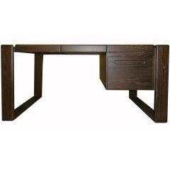 Lou Hodges Craftsman Desk in Cerused Oak