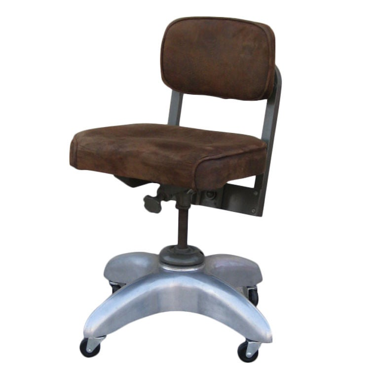 industrial style american mid-century adjustable office chair