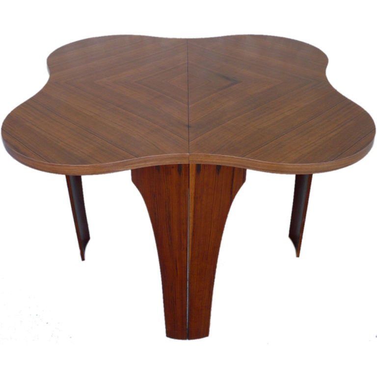 Free form walnut game or dining table at 1stdibs - Free dining tables ...
