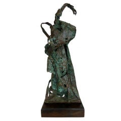 Abstract Expressionist Bronze Sculpture by Howard Quam