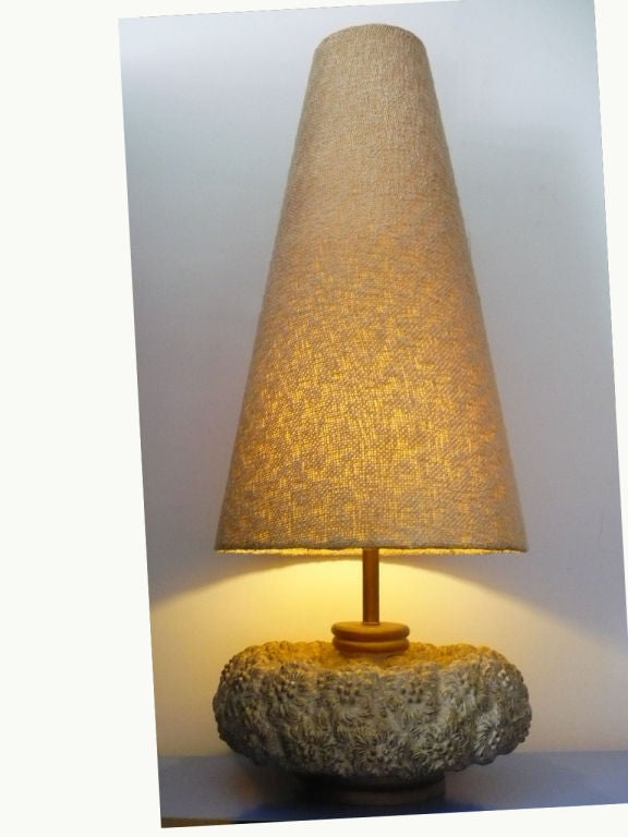 mid century huge and unique resin table lamp for sale at 1stdibs. Black Bedroom Furniture Sets. Home Design Ideas