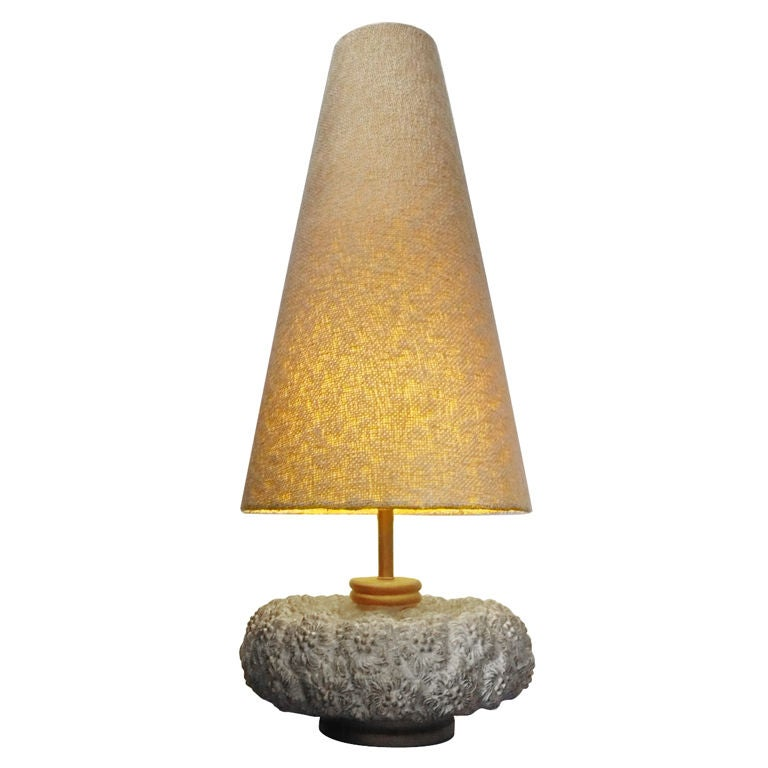 Mid-Century Huge And Unique Resin Table Lamp At 1stdibs