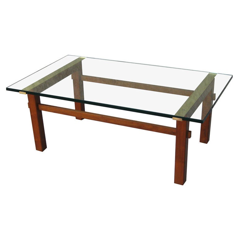 Architectural walnut coffee table by mastercraft at 1stdibs for Architectural coffee table