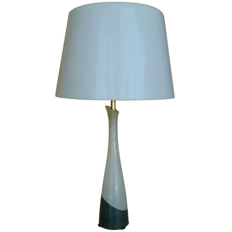 Mid-Century Two Tone Alabaster Little Table Lamp