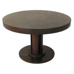 Dark Walnut Pedestal Dining Table by Baker
