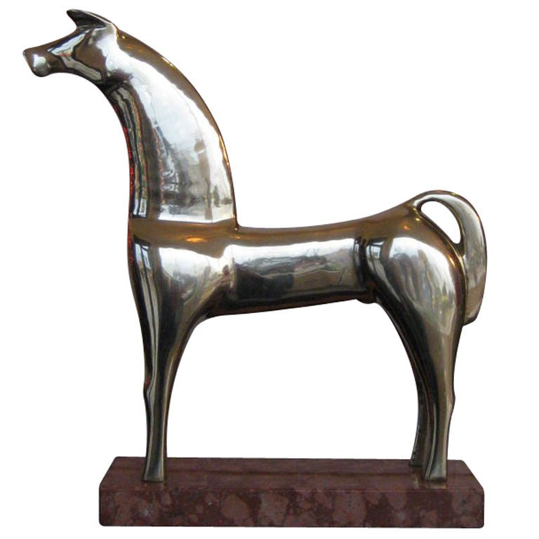 Mid Century Stylized Bronze Sculpture Of A Horse At 1stdibs