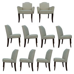 Set of 2 Captain and 8 Side Chairs