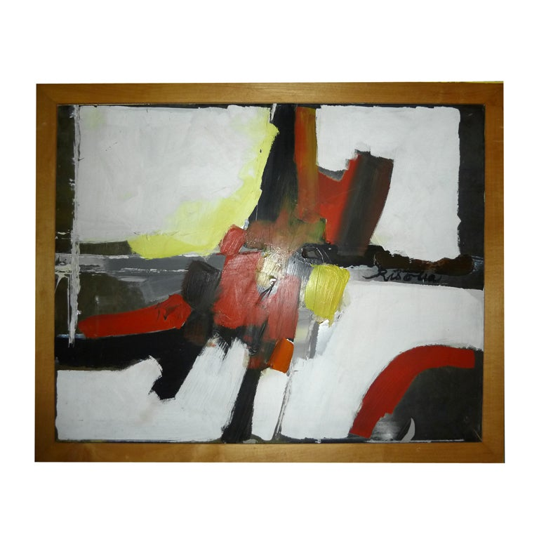 A Fine Original Abstract Oil Painting signed Risolia