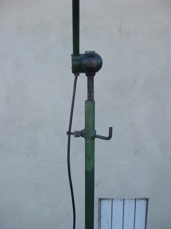 1930s french industrial style floor lamp at 1stdibs. Black Bedroom Furniture Sets. Home Design Ideas