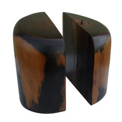 Mexican Mid-Century Mesquite  Bookends by Don Shoemaker, Pair
