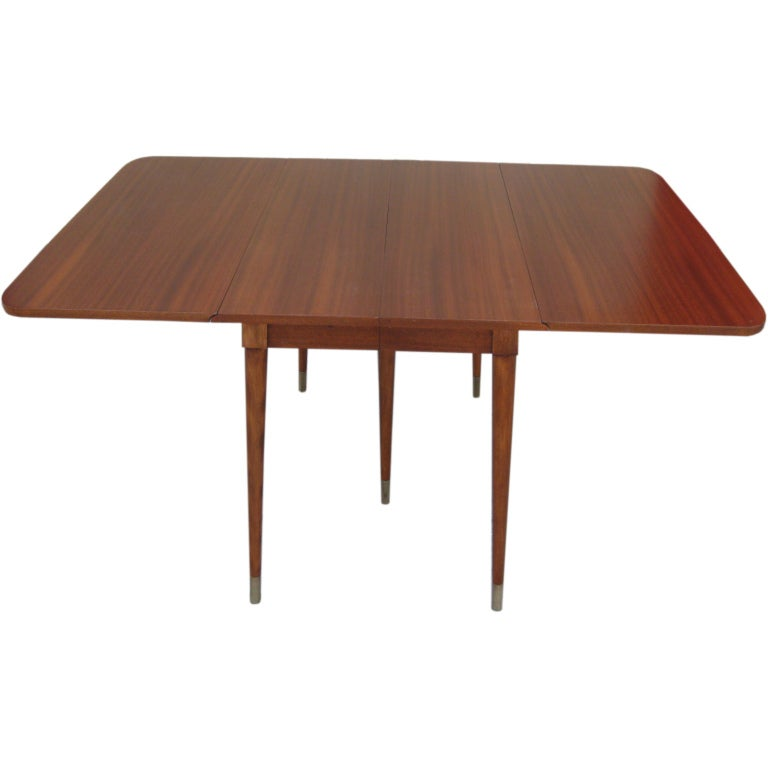 Drop leaf mahogany extension table by rway at 1stdibs for Drop leaf extension table