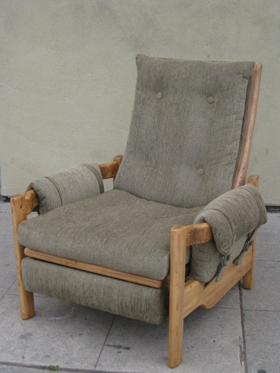 Mid Century Unusual Solid Ash Recliner For Sale At 1stdibs
