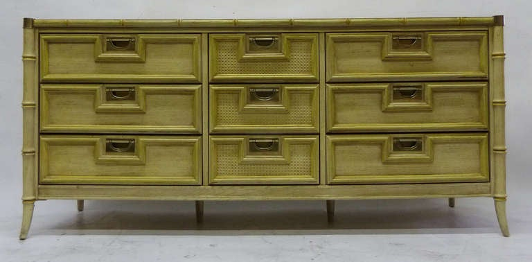 Stanley Faux Bamboo Dresser 2