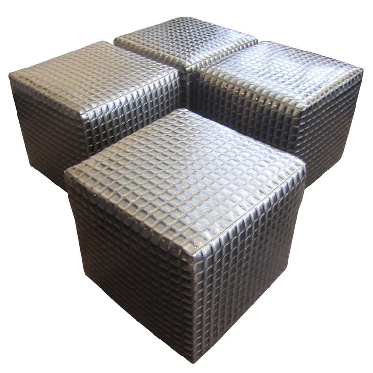 1970s Modular Coffee Table Or Ottoman Set At 1stdibs
