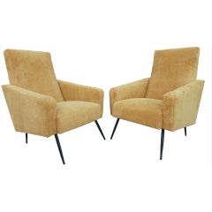 Pair of French Armchairs by Airborn