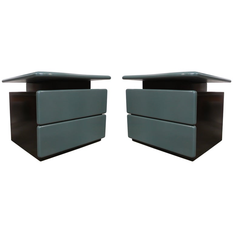 Canadian Pair of Side Tables by Rougier