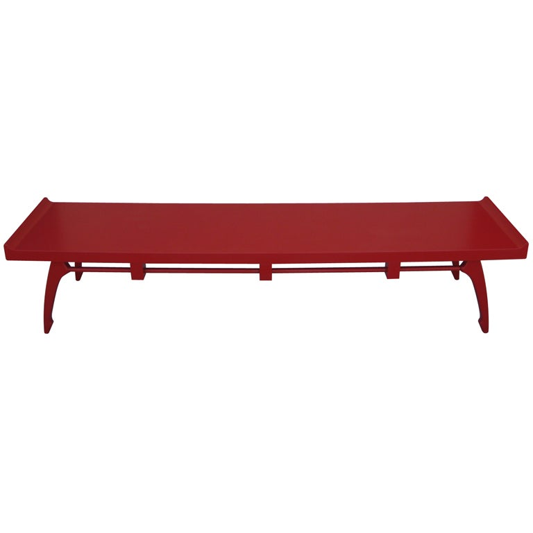 Red Lacquer Coffee Table By Edmund Spence At 1stdibs