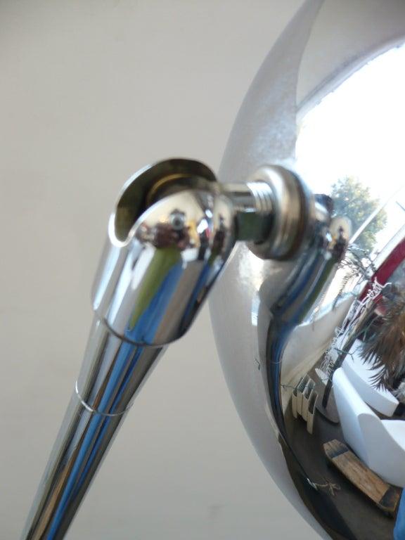 Mid-Century Modern Mid-Century Adjustable Chrome Floor Lamp by Robert Sonneman For Sale